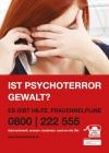 """Frauenhelpline - Plakat / Freecard - """"Ist Psychoterror Gewalt?"""""""
